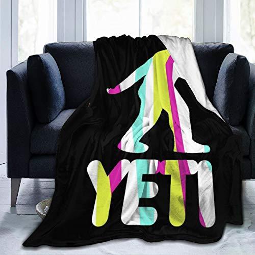 NUJSHF Gta Yeti - Manta de franela de forro polar ligera, ultrasuave y cálida, apta para sofá