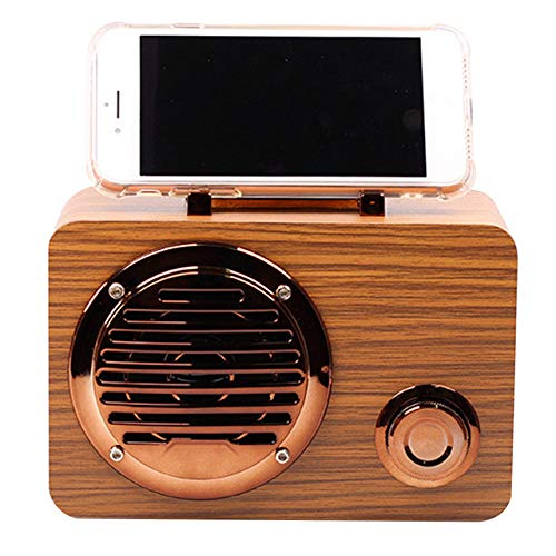 Oplaadbare luidspreker Outdoor Shortwave Clear Bluetooth Radio Mini USB Travel Retro Home Portable Decoration Wood-in Radio geel