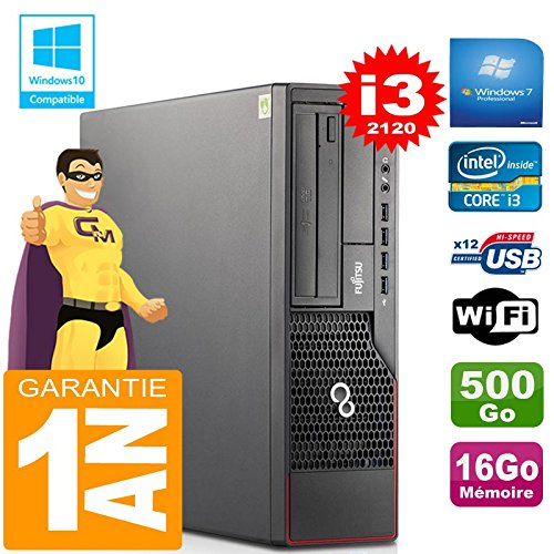 Fujitsu PC Esprimo E700 E90+ SFF Core I3-2120 RAM 16 GB Scheibe 500gb Wifi W7 (Generalüberholt)