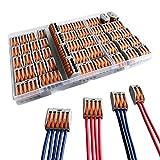 CESFONJER Conectores compactos de conductores, Paquete de surtido de tuercas de palanca PC...