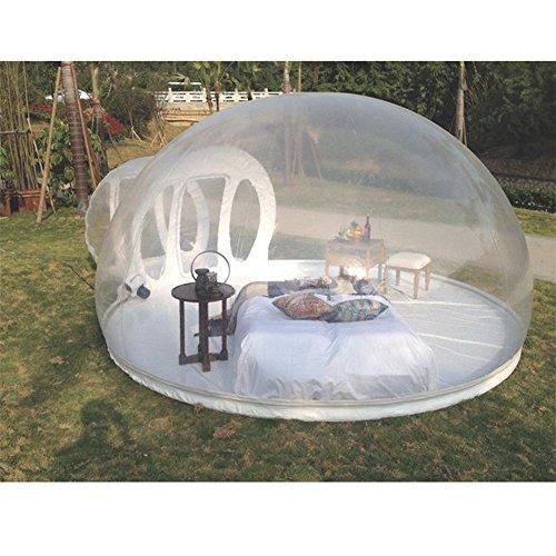 Z&HAO Tenda gonfiabile trasparente esterna automatica nel selvaggio multi-persona campeggio mobile bolla divertimento doppia casa 3m di diametro con canale