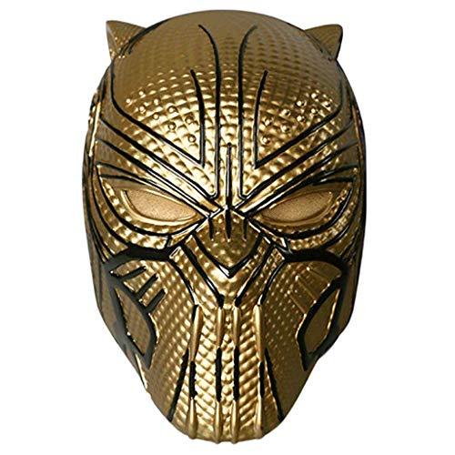 Capitán América: Máscara de la Guerra Civil, Marvel Legends Series Black Panther Helmet Mask Carnaval y Halloween - Disfraz de Adulto - PVC, Unisex,Gold-(53cm~62cm)