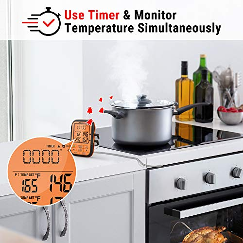 ThermoPro TP28 500FT Long Range Wireless Meat Thermometer with Dual Probe for Smoker BBQ Grill Thermometer