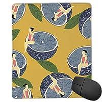 夏のレモン女 マウスパッド ゲーミングマウスパッド ラップトップマット pcマウスパッド リストレスト ラバーマット 滑り止め 耐久性 高級感 25*30