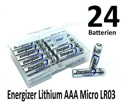 NEMT Flachbox mit 24x Energizer Lithium Micro AAA Batterie LR6