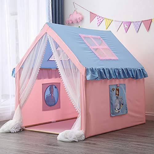 Children's Game Tent Kamer met LED-lampje Ball, The House Oversized, Wood Game Indoor Outdoor baby speelgoed Prinses en Prince Castle,Pink