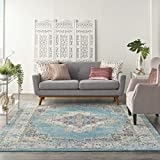 Nourison Passion Bohemian Chic Light Blue Area Rug (8' x 10'), 8'X 10',