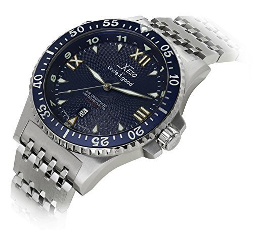 Xezo Men's Professional Pilot Diver Automatic 200 M Water Resistant Watch by