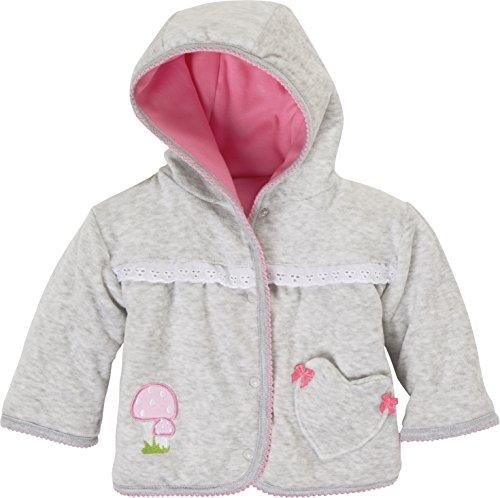 Schnizler Schnizler Baby-Mädchen Wendejacke Reh, Oeko-Tex Standard 100 Jacke, Grau/Melange 37), 50