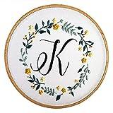 DIY Plantas de bordado Floral Trabajo hecho a mano Costura para principiantes Kit de punto de cruz Cinta Pintura Bordado Aro Decoración para el hogar, 7, Estados Unidos