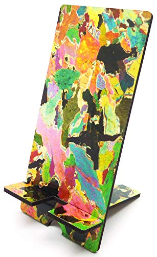 Rock Thin Section Microscope Photo Mobile Phone Tablet Desk Stand - Smartphone holder - Hornblendite from Avernish, Scotland - Geography Earth Science Teacher gift