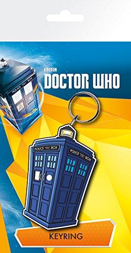 GB Eye Doctor Who, Tardis Illustration Schlüsselanhänger, Mehrfarbig