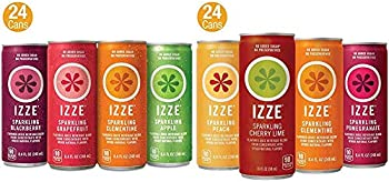 48-Count Izze Sparkling Juice 4 Flavor Pack + 4 Flavor Sunset Pack