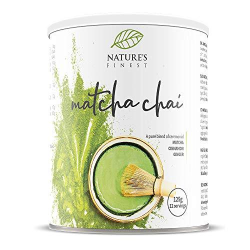 Nature's Finest Matcha Chai latte | Latte té Matcha | 125g – Combinación de Matcha, canela y jengibre