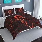 3 Piece Microfiber Bed Set World of Warcraft Duvet Cover Teen Boy Men Role-Playing Game Themed Bedding Sheet Set, King Size