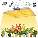 APONUO Lámpara de Cultivo LED 1000W, Full Spectrum Plant Grow Lights Sunlike 3500K White y 660nm Red para Plantas de Interior Lámparas de Cultivo de Verduras y Flores sin Ventilador