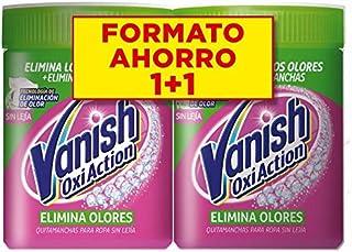 Vanish Oxi Action Elimina Olores- Quitamanchas para Ropa Blanca y de Color con Eliminación del Olor, en Polvo, Sin Lejía - Pack de 2 x 840 g
