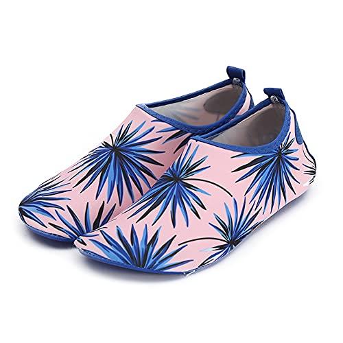 Rojeam Zapatos de Agua Hombre Mujer Playa Escarpines Zapatillas de Deportes Acuáticos, Tamaño-37 38 EU, Rosa (Tamaño del Fabricante 38-39)