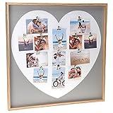 dszapaci Fotogalerie Bilderrahmen Herz Bildergalerie mit XL Holz Rahmen Fotocollage Love Liebe groß für mehrere Bilder
