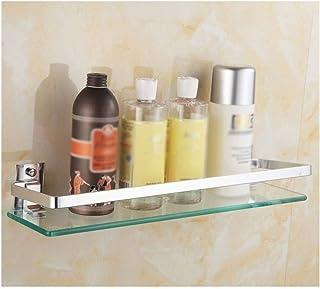 YF-SURINA Caddies de douche étagère coin douche étagère en verre verre trempé mural salle de bain shampooing support de fo...