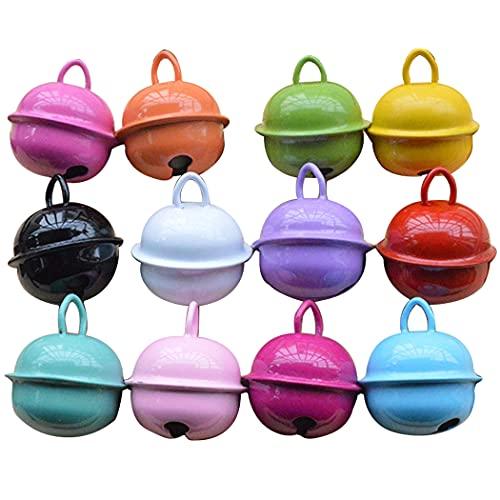 ZOYLINK Collar De Mascota Campanas De Metal 10 Piezas Decorativo Colorido Hecho a Mano Colores Surtidos Gato Campanas Colgantes Collar De Hierro Ligero