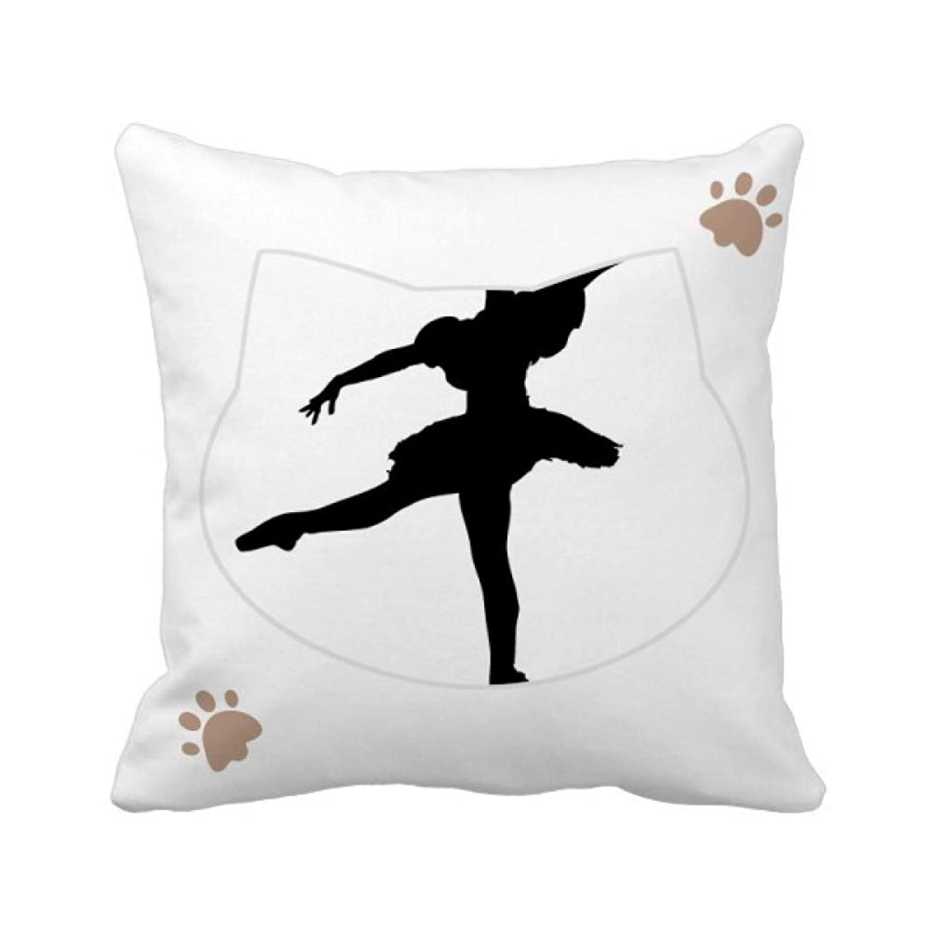 世界的にウェブ溶接ダンス?バレエ?アート?スポーツ 枕カバーを放り投げる猫広場 50cm x 50cm