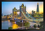 Poster Tower Bridge und The Shard bei Sonnenuntergang,