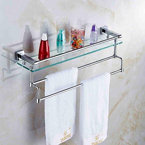 Racks de salle de bain Single Layer Tous les étagères en verre trempé en bronze trempé en bronze avec serviette de bain/salle de bains (taille : 40cm)