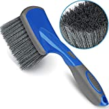 Relentless Drive Car Wheel Brush - Auto Detailing Car Wash Brush, Ergonomic Grip with Long Handle for Tires and Wheels, Wheel Cleaner Brush for Car, Truck, SUV & Motorcycle Tire Shine