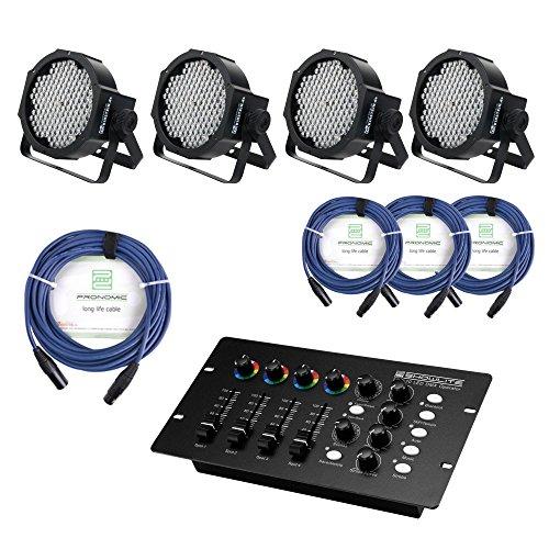 Showlite FLP-144 Scheinwerfer SET inkl. DMX Controller und Kabel (LED-Spots, Lichttechnik, Komplettset, DMX Operator, DMX-Kabel, 1m, 3m)