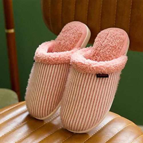KIKIGO Calde Leggere Morbide Comode e Antiscivolo Pantofole,Comode Pantofole da Donna, Calde Pantofole Invernali da Esterno per Interni-Rosa_44 / 45