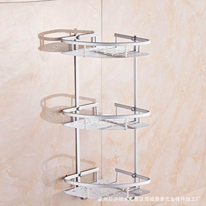 Corner Wire basket thick aluminum plate aluminum bathroom space triangular racks toilet three-tier corner storage rack