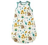 NFSQYDT Saco de Dormir para Bebé, de Invierno, 2,5 TOG, 100% Algodón, Transpirable, Saquito de Dormir de Algodón con Cremallera de 2 Vías, 0-18 Meses Animal World-6 To 12 Months