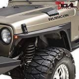 Tidal Front Fender with Flair and LED Eagle Lights Fit for 97-06 Wrangler TJ