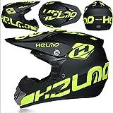 WZYU - Casco de moto para niños, casco de moto todoterreno para niños, cascos de moto, unisex, apto para diferentes grupos de personas (guantes, máscaras, guantes) (S)