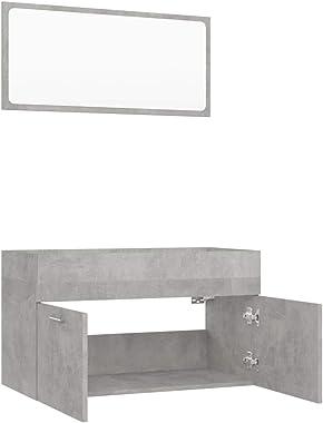 vidaXL Ensemble de Meubles de Salle de Bain 2 pcs Miroir Mural Armoire de Rangement Armoire de Toilette Placard de Salle de B