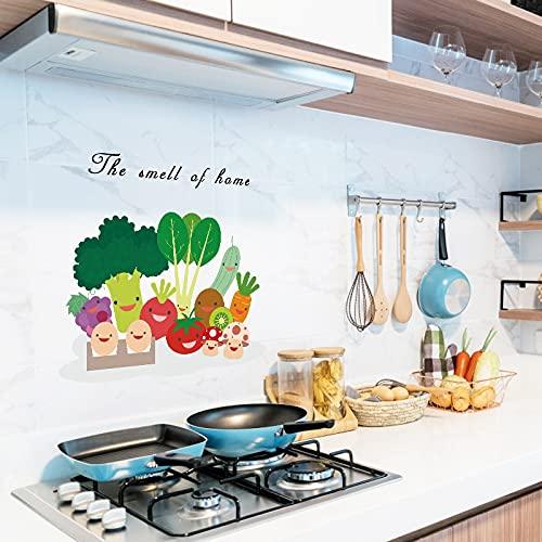Pegatinas transparentes a prueba de aceite 12 estilos para la decoración de la cocina protección de azulejos murales de pegatinas para mascotas a prueba de agua de alta temperatura