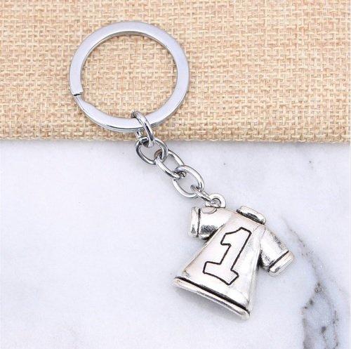 N°1 - Portachiavi da portiere a forma di calcio, idea regalo, da uomo, da portiere