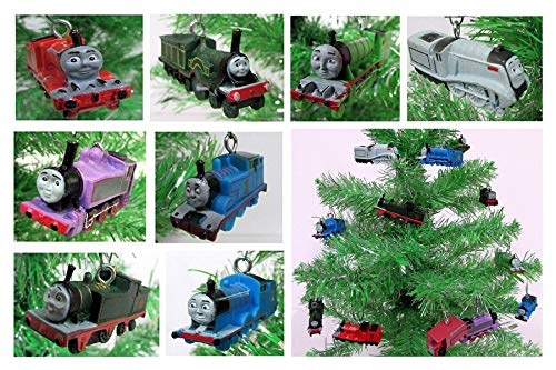 Christmas Ornament Thomas The Train 8 Piece Random Mini Set Featuring Thomas and Friends
