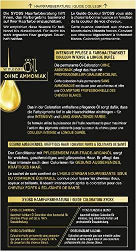 SYOSS Oleo Intense Permanente Öl-Coloration 7-58 Kühles Beige-Blond, mit pflegendem Öl & ohne Ammoniak, 3er Pack (3 x 115 ml)