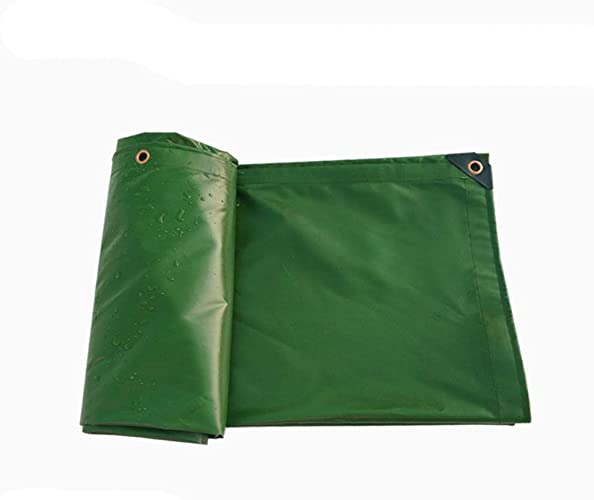 Bache imperméable écran solaire en plein air vert épaississement cryptage tissé couverture de pluie auvent bache poncho antipoussière, tapis de pêche sauvage, multi-taille (taille   5MX5M)