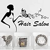 Calcomanía de pared para niña mujer peluquería decoración de pared maquillaje cara moda...