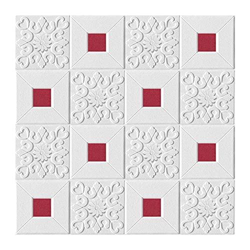Paneles de pared de PVC 10 unids autoadhesivo papel tapiz 3d etiqueta de pared de pared de espuma dormitorio sala de estar techo techo papel tapiz decoración impermeable ( Color : 70X70cmX10PCS5 )