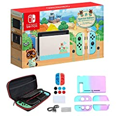 Get the gaming system that lets you play the games you want, wherever you are, however you like. Includes the Nintendo Switch console and Nintendo Switch dock in black, with contrasting left and right Joy‑Con controllers—one red, one blue. Also inclu...