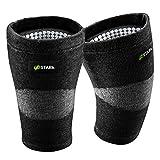 UPSTARK Kniebandage für Damen und Männer - Unterstützung beim Wandern & Sport wie Laufen, Joggen, Fitness - Kniestütze für Meniskus- & Knieschmerzen (L)
