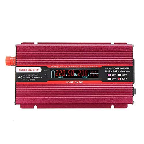 3000W Power Inverter,Car Solar Power Inverter DC 12V to AC 220V USB Sine Wave Converter Car Inverter Outdoor Emergency Power Supply