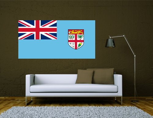 Kiwistar Wandtattoo Sticker Fahne Flagge Aufkleber Fidschi 80 x 40cm