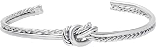 Simple Knot Love Knot Bangle Adjustable Open Cuffs Bracelet for Women Tie The Knot Bangle