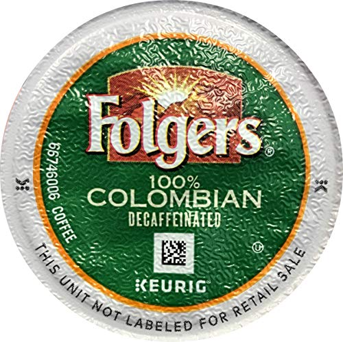 Folgers 100 Percent Colombian Decaffeinated Coffee Single Serve Pods for Keurig K-Cup Brewers, 96 Count