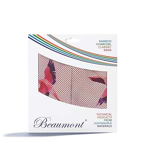 "Beaumont ""Flamingo Hustle"" Paño con Hisopo de Cuerda para Limpieza Interior de Clarinete Si Bemol Buffet, Yamaha, Selmer, Leblanc (BCPT-FH)"